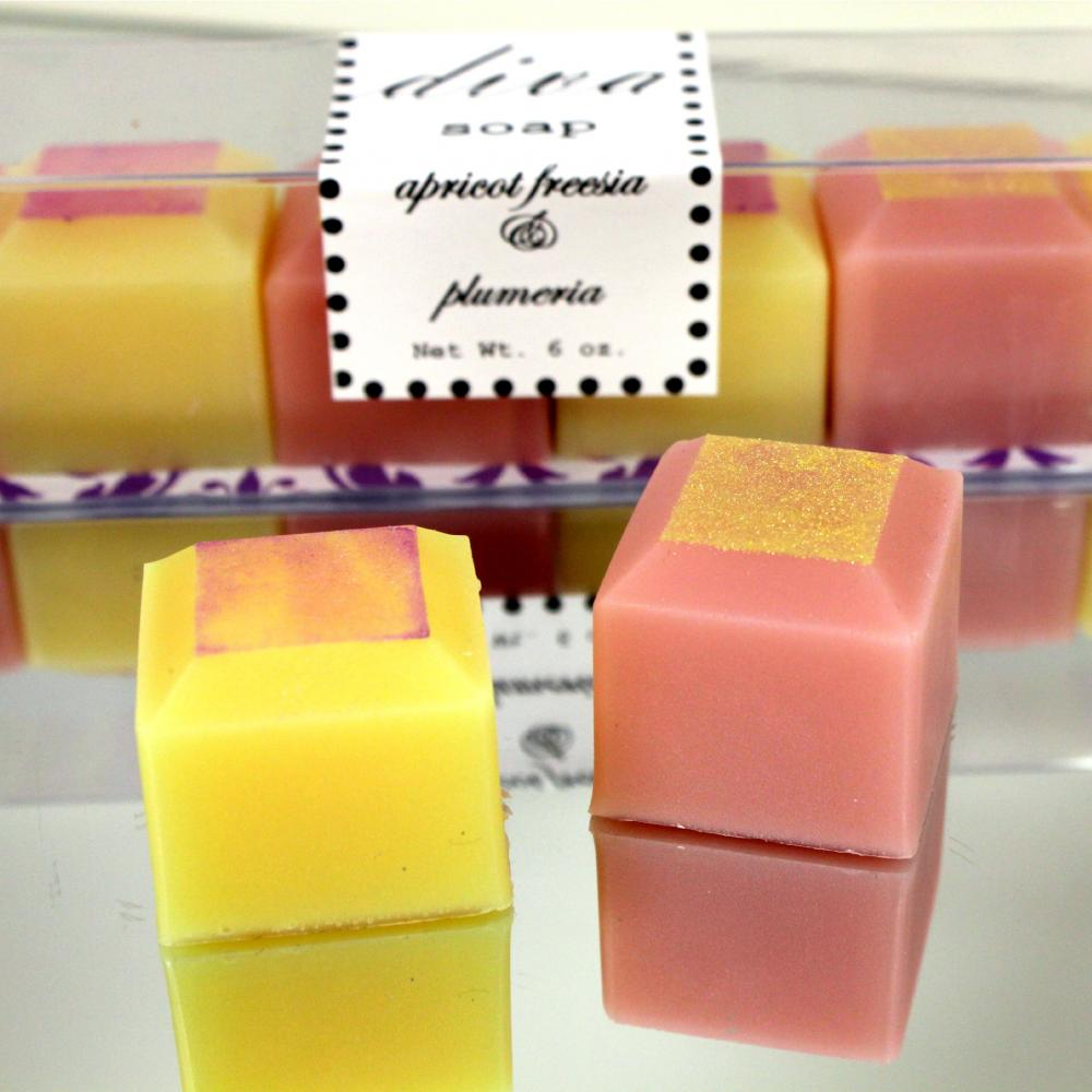 All Natural Handmade Apricot Freesia & Plumeria Diva Soaps